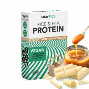 AbsoRICE protein 500g - Fehércsokoládé-karamell